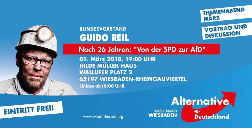 """AfD Themenabend mit Guido Reil """"Nach 26 Jahren: Von der SPD zur AfD"""""""