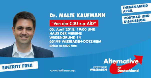 AFD Themenabend mit Dr. Malte Kaufmann