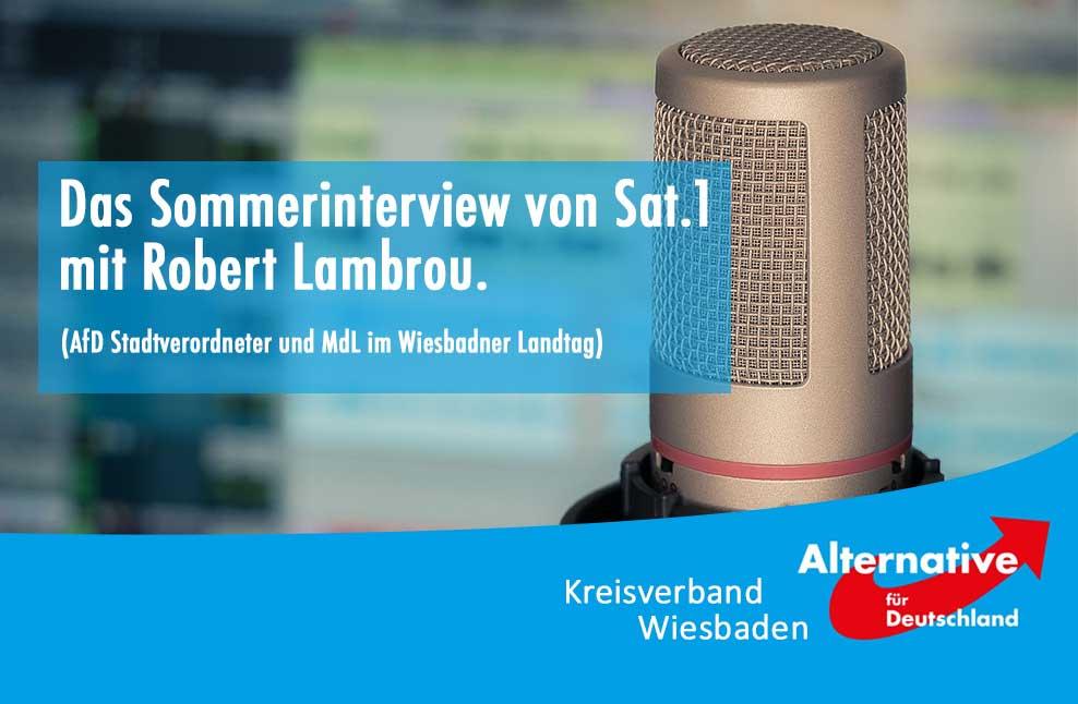 Das Sommerinterview von Sat.1 mit Robert Lambrou (AfD)
