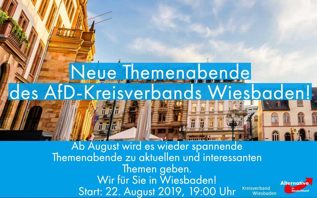 Themenaben des AfD Kreisverbands Wiesbaden