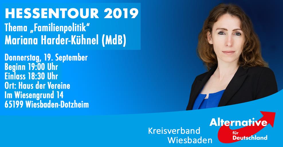 Hessentour 2019 Thema Familienpolitik mit Mariana Harder-Kühnel