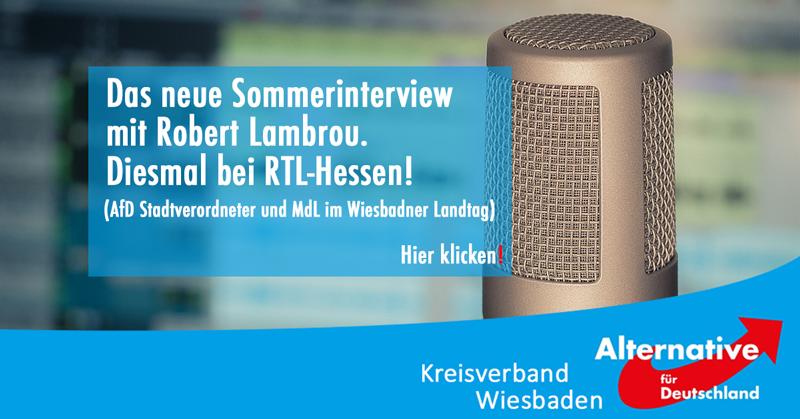 Sommerinterview RTL-Hessen mit Robert Lambrou