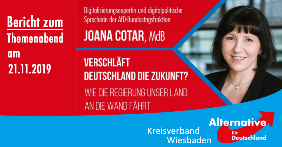 Bericht zum Themenabend mit Joana Cotar, MdB