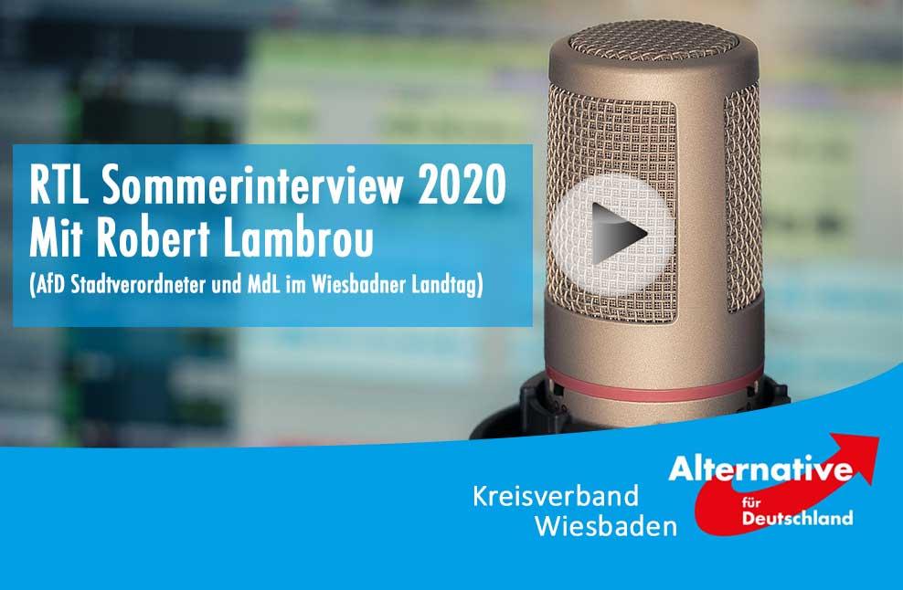 RTL Sommerinterview Robert Lambrou