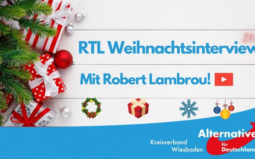 Im RTL Weihnachtsinterview 2020: Robert Lambrou