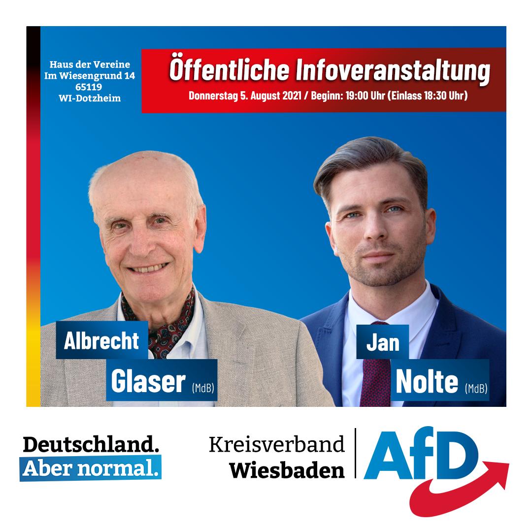AfD Wiesbaden Veranstaltung 5. August 2021