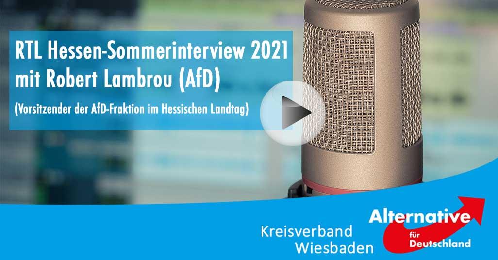 RTL Hessen-Sommerinterview 2021 mit Robert Lambrou (AfD)
